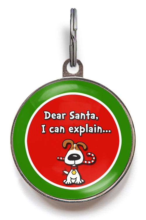 Dear Santa Dog ID Tag