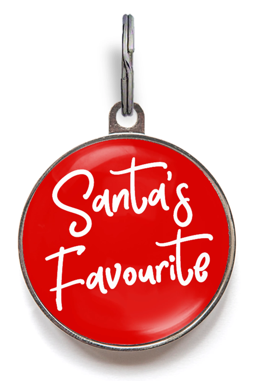 Santa's Favourite Pet Tag