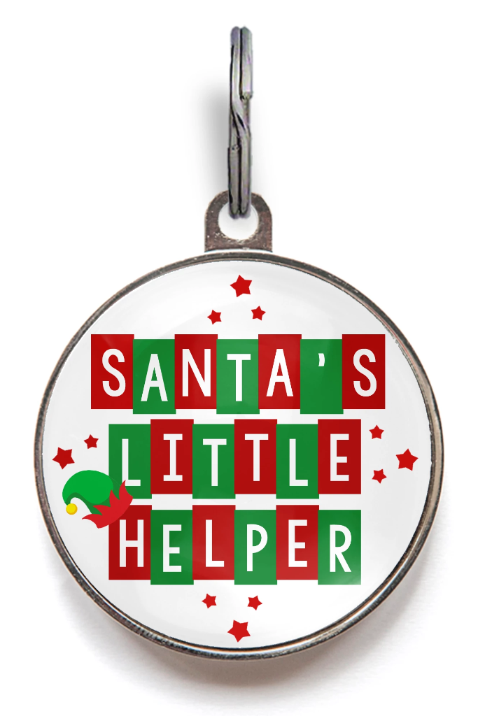 Santa's Little Helper Tag For Dogs