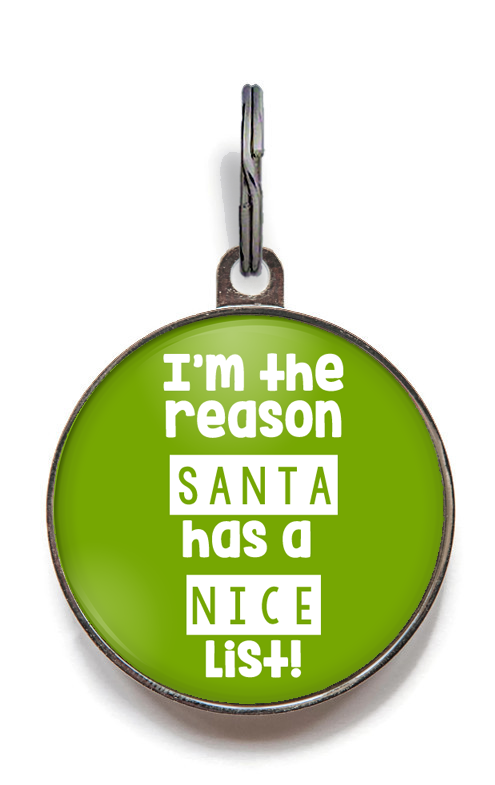 Santa's Nice List Pet Tag