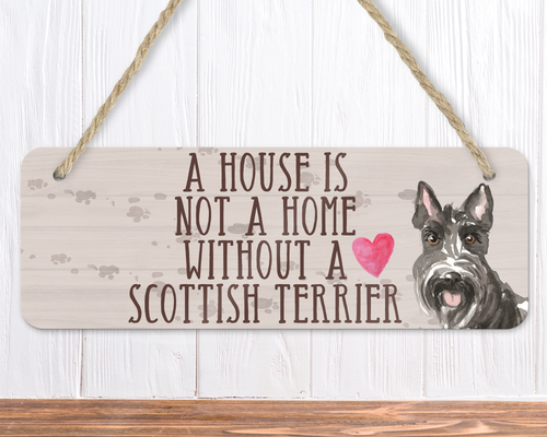 Scottie Dog Sign