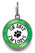 Oh Shit, I'm Lost Pet Tag