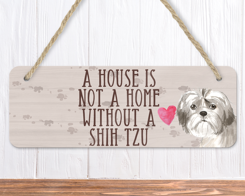 Shih Tzu Dog Sign