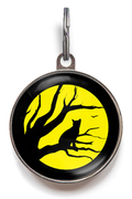 Silhouette Cat ID Tag