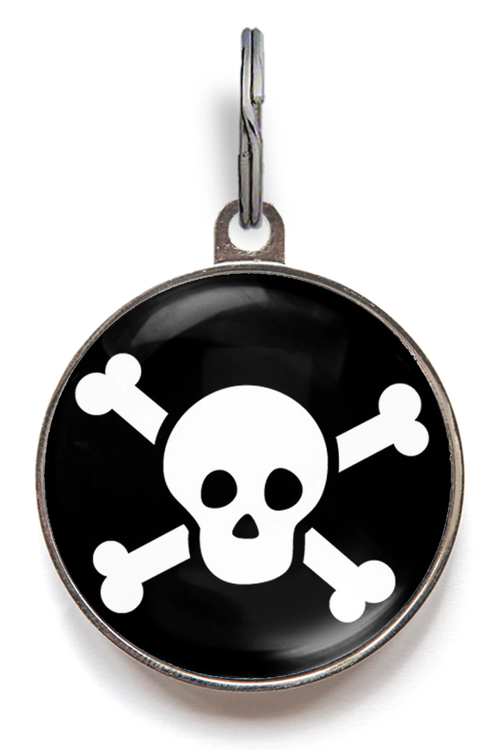 Skull & Crossbones Dog ID Tag