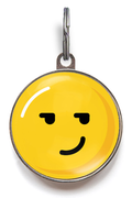 Smirking Emoji Pet Tag