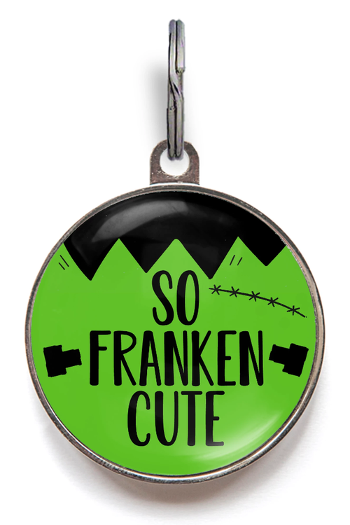 So Franken Cute Dog Tag