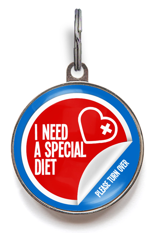 I Need A Special Diet Medical Pet Tag
