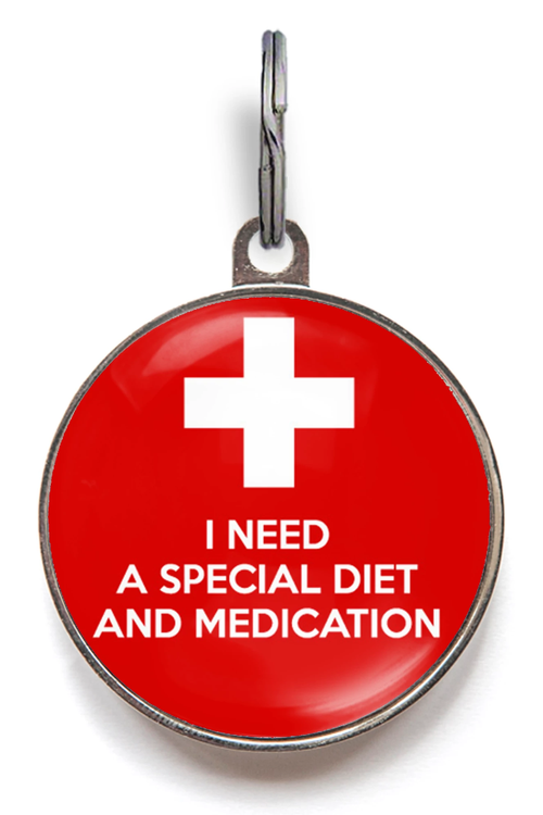 I Need A Special Diet & Medication ID Tag