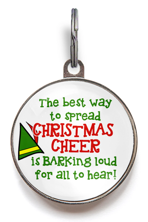 Christmas Cheer Dog ID Tag