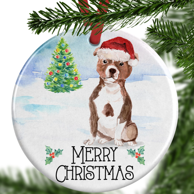 staffie christmas ornament