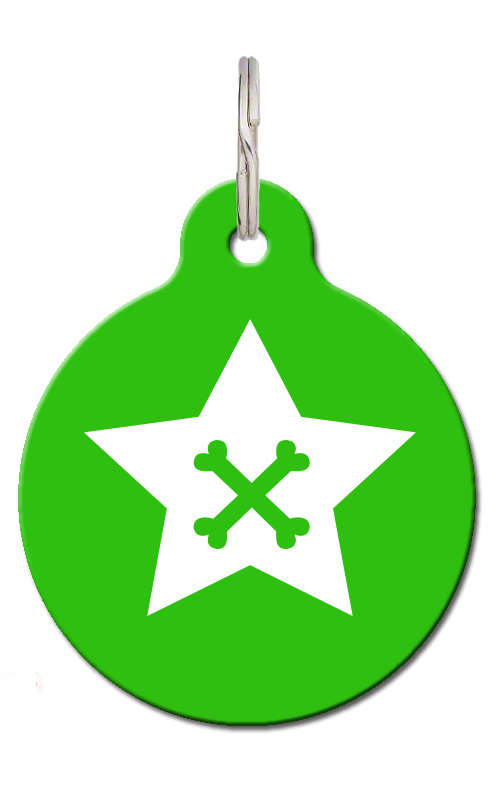 Star Crossbone Dog ID Tag
