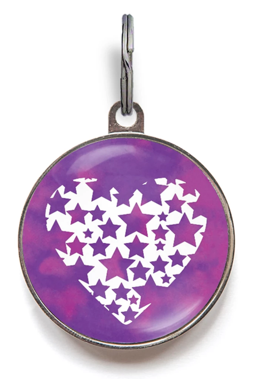 Star Heart Pet ID Tag