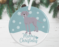 Weimaraner Christmas Decoration - Blue