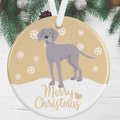 Weimaraner Christmas Decoration - Gold