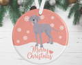 Weimaraner Christmas Decoration - Pink