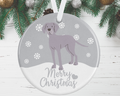 Weimaraner Christmas Decoration - Silver