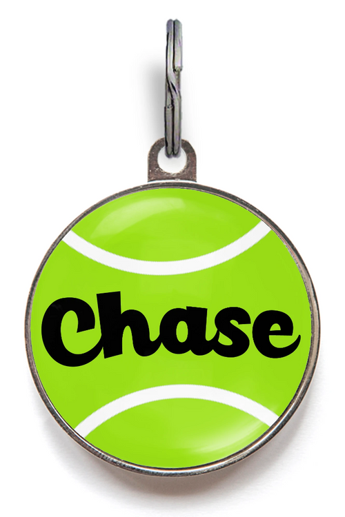 Tennis Ball Dog Tag