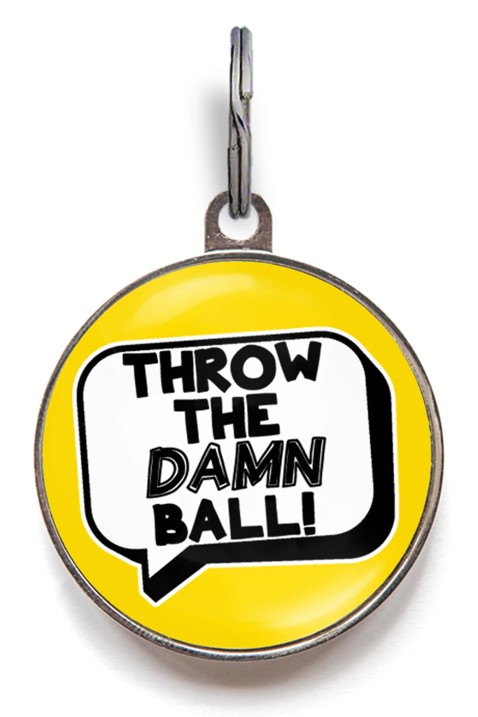 Throw The Ball Dog ID Tag