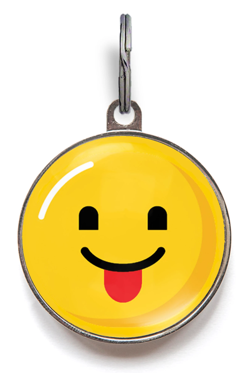 Emoji Pet Tag - Tongue Out