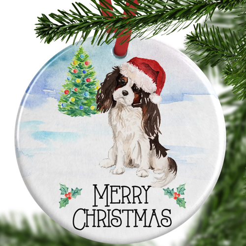 Tri Colour King Charles Spaniel Ornament