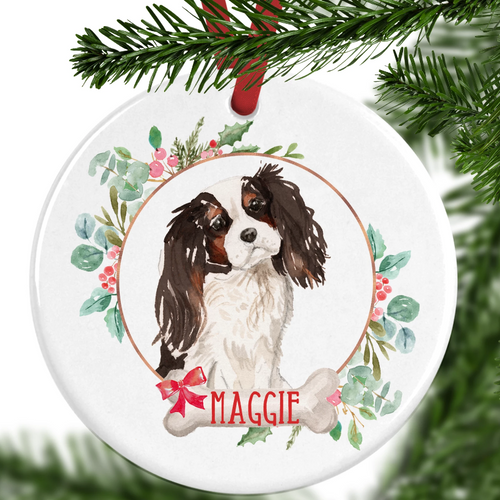 King Charles Spaniel Personalised Christmas Ornament