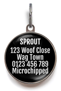 Rescue Dogs Rock! Dog ID Tag - Black