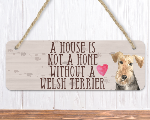 Welsh Terrier Dog Sign