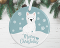 Westie Christmas Decoration - Blue