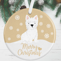 Westie Christmas Decoration - Gold
