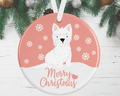 Westie Christmas Decoration - Pink