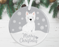 Westie Christmas Decoration - Silver