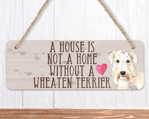 Wheaten Terrier Dog Sign