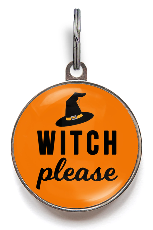 Witch Please Halloween Pet Tags