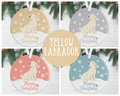 Yellow Labrador Christmas Decoration