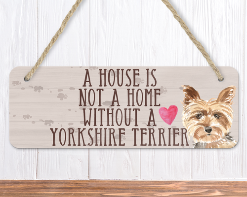 Yorkshire Terrier Dog Sign