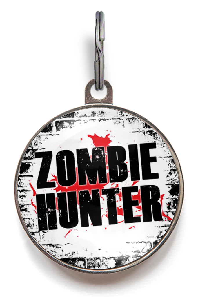 Zombie Hunter Pet ID Tag
