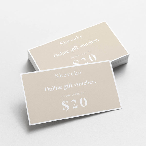 Shevoke $20 GIFT VOUCHER
