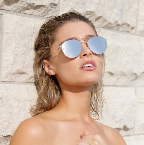 Shevoke All Silver Sample sunnies