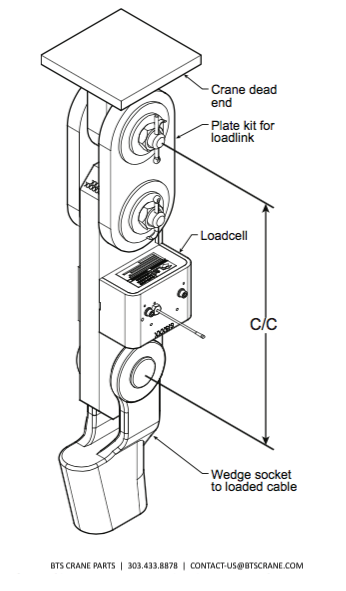 LSI Trimble Load Cell Mounting Diagram BTS Crane Parts