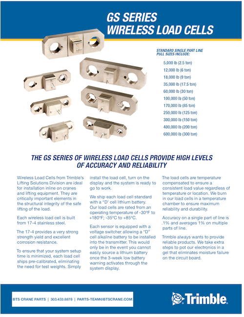 Trimble GC012 Load Cell Brochure