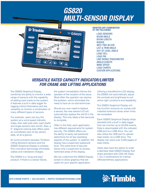 LSI Trimble GS820 Brochure