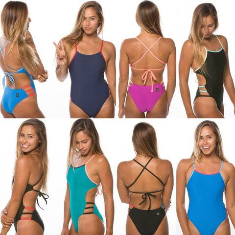 JOLYN one piece swimsuits, tie back 8 images