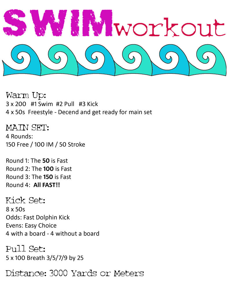 Jolyn Swim Workout