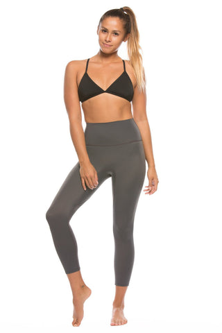 "Jonesie ""All Day Erryday"" Capri - Charcoal"