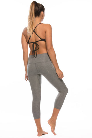 "Jonesie ""All Day Erryday"" Capri - Heather Grey"
