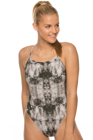 Printed Jackson 3 Tie-Back Onesie - Tarnish