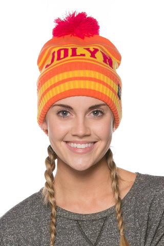 Pom Pom Beanie - Orange
