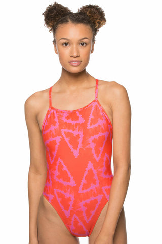 Printed Jackson 3 Tie-Back Onesie - Jaded
