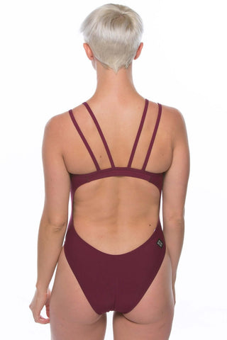 Ash 2 Fixed-Back Onesie - Cabernet